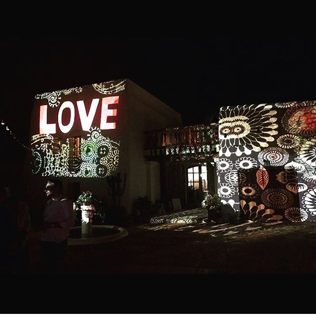 Let there be LOVE #privateevent #art #love #projections by @bamboobambhaus #lascicadasibiza #ibiza #boutiquevilla