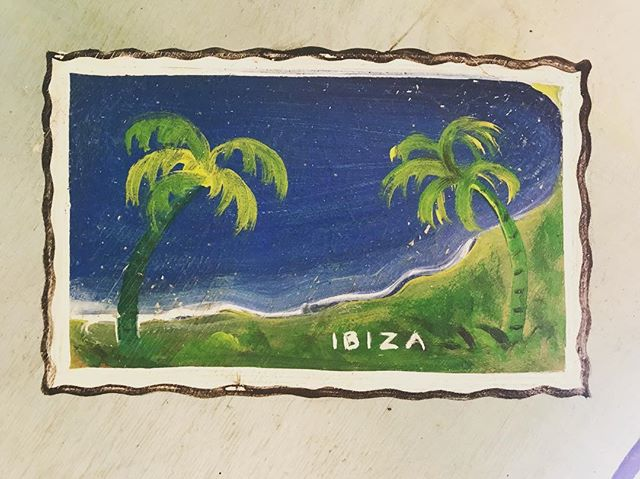 /// 💌 from 🌴B🌴ZA ///#withlovefromibiza #ibiza #postcard #vintagesign #handpainted #mediterranean #holidays #hot #summer #ibiza2018 #itsbetterinibiza #vacation #destination #holidays #boutiquevilla #lascicadasibiza